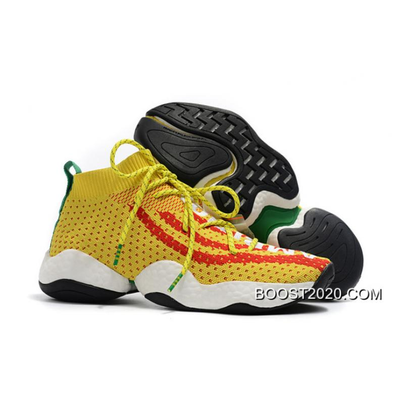 b675b9aec Women Men Pharrell X Adidas Crazy BYW  Ambition  Yellow Red-Green ...