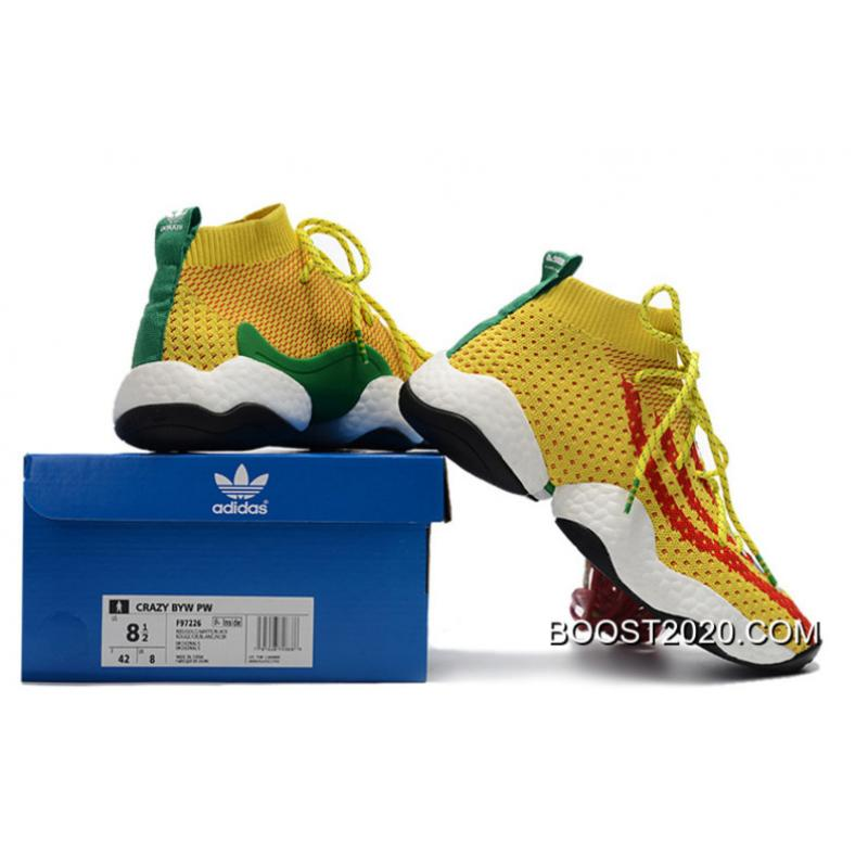 714ed034b3457 ... Women Men Pharrell X Adidas Crazy BYW  Ambition  Yellow Red-Green ...