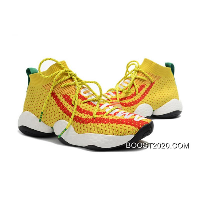 ad9bea8f0 ... Women Men Pharrell X Adidas Crazy BYW  Ambition  Yellow Red-Green ...