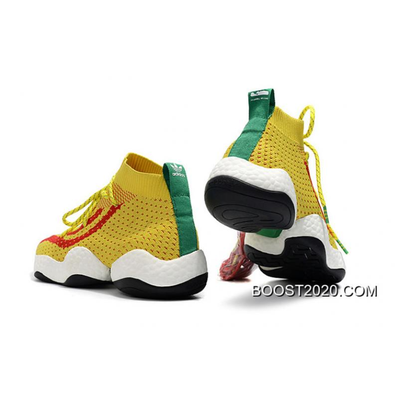 cheaper 1fed7 1f299 ... WomenMen Pharrell X Adidas Crazy BYW Ambition YellowRed-Green