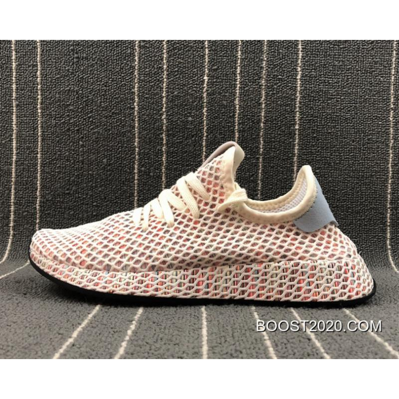 64e47ee39918b Women Men Outlet New Release Adidas Originals Deerupt Pride Cream White Ash  Grey  ...