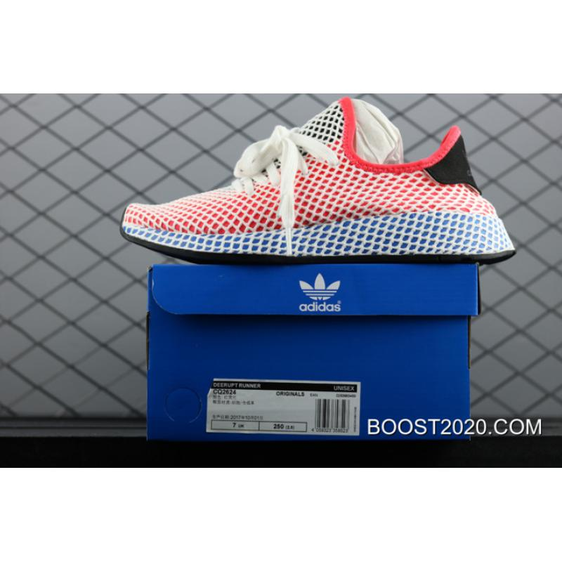 c878f1f77addf ... Women Men Outlet Free Shipping Adidas Deerupt Runner Solar Red    Bluebird