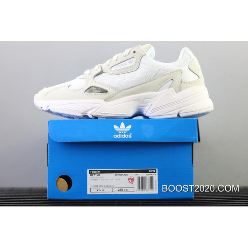 online retailer outlet on sale super popular Women/Men Outlet Authentic Adidas Falcon Triple White B28128 ...