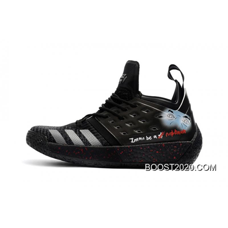 "727e7bdb007 Outlet New Release Adidas Harden Vol. 2 ""Nightmare"" Custom, Price ..."