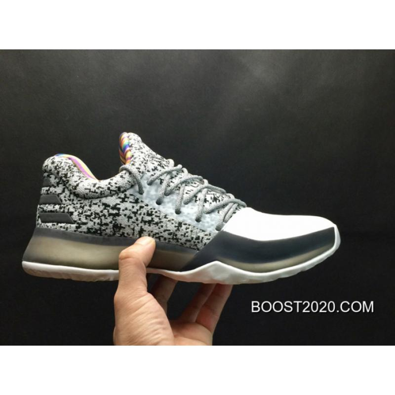 "great fit e8806 56476 Adidas Harden Vol. 1 ""BHM"" White Grey Outlet New Release ..."