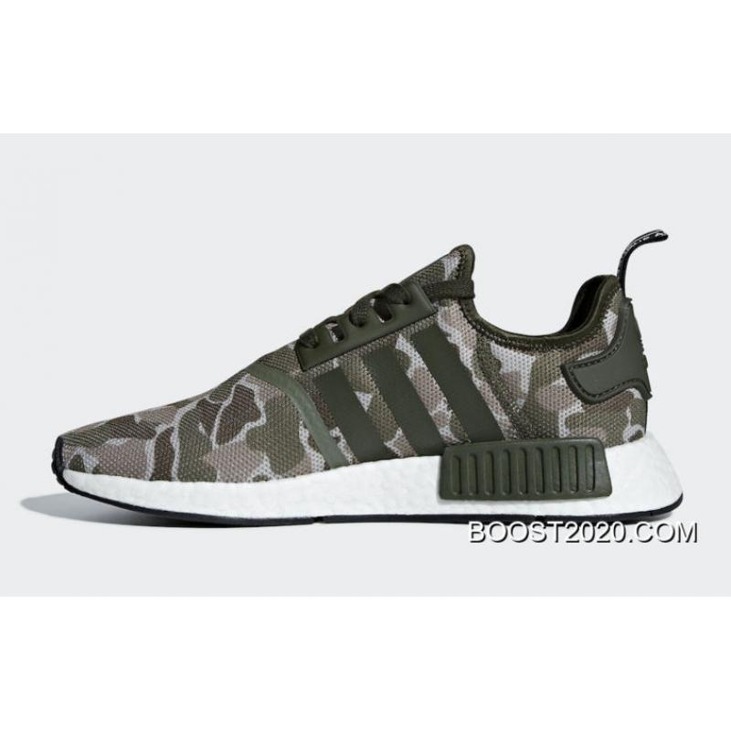 the latest 67060 9ef99 Outlet Big Deals Adidas NMD R1 'Camo' Sesame/Steel-Base Green