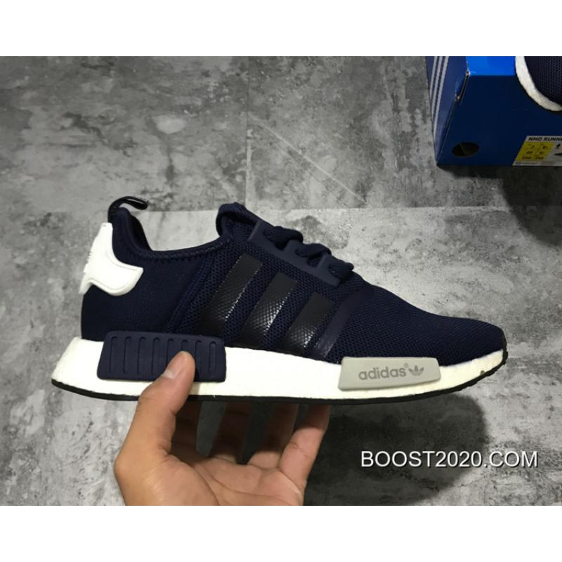 197256172 Adidas NMD R1 Collegiate Navy White Outlet Tax Free ...
