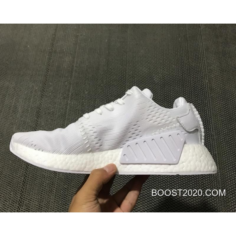 info for c5699 11305 Women/Men Outlet Tax Free Adidas NMD R2 Primeknit 'Wings & Horns' Triple  White