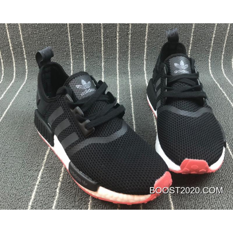 new arrival 314d1 65ef9 Outlet Discount Adidas NMD R1 CORE Black / Carbon / Trace Scarlet