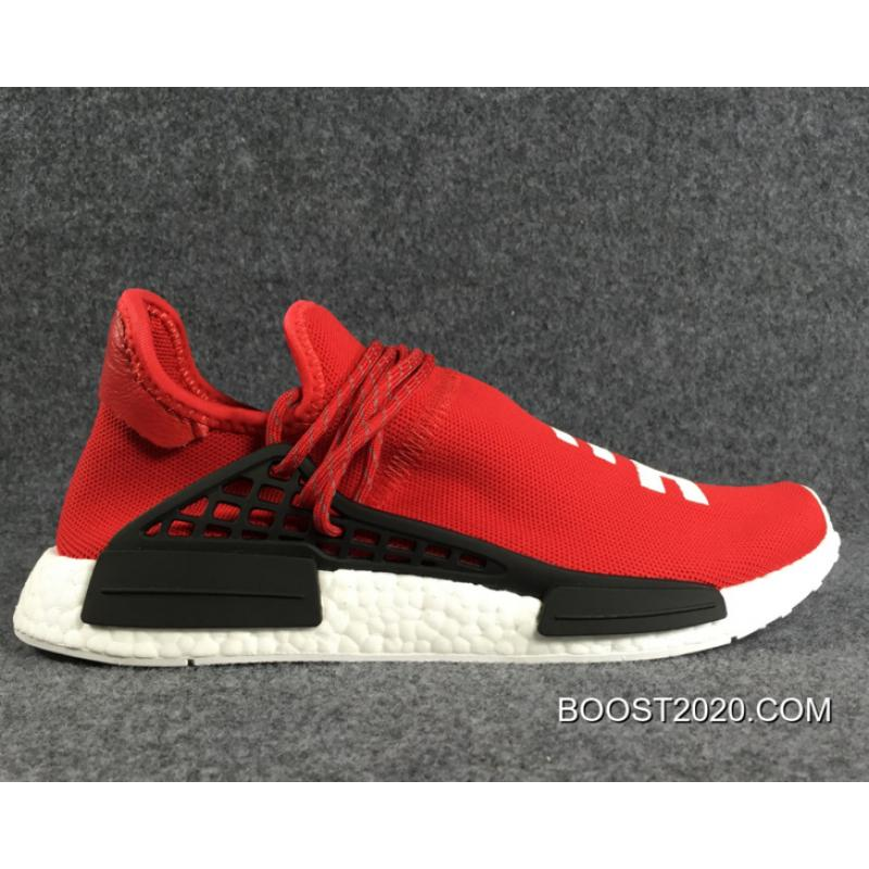 WomenMen Pharrell Williams X Adidas NMD Human Race Red White Black Outlet New Release