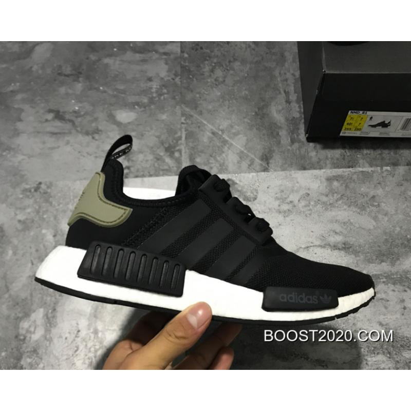 "0f413bef2 Women Men Adidas NMD R1 Trail ""Core Black Trace Cargo"" Outlet Outlet ..."