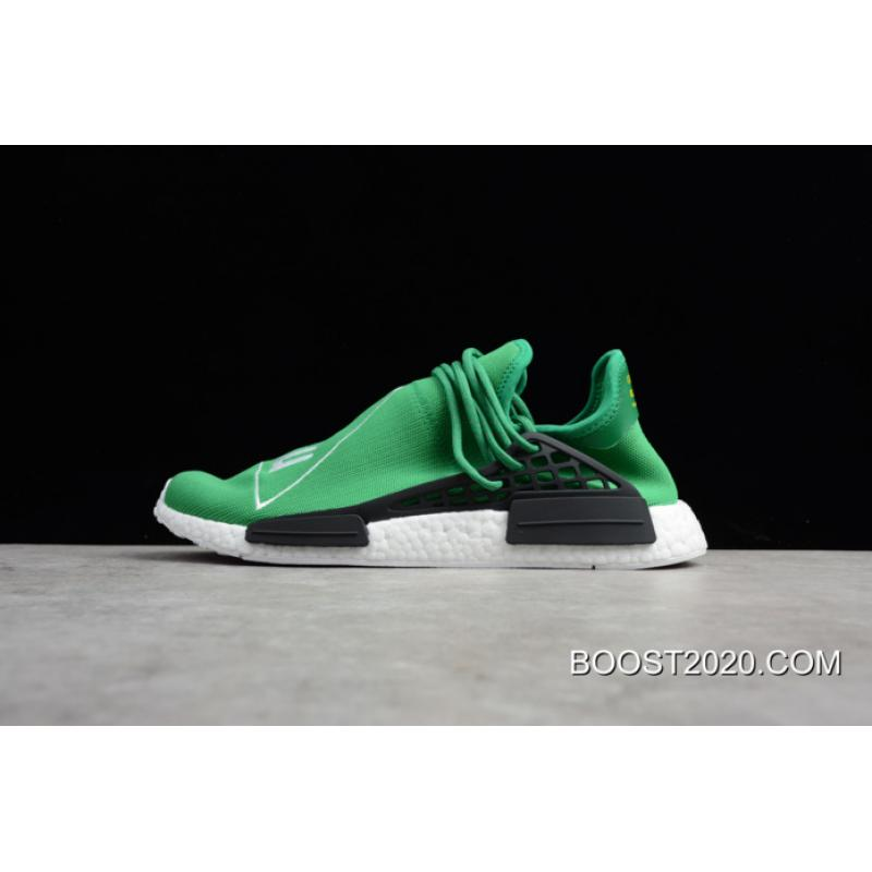 1ae468ff7891 Women Men Outlet Online Pharrell Williams X Adidas NMD Human Race Green  White-Black ...