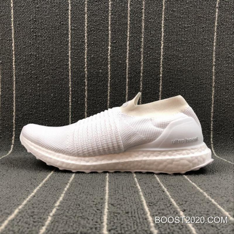 """Adidas Ultra Boost Laceless Mid """"Triple White"""" New Release"""