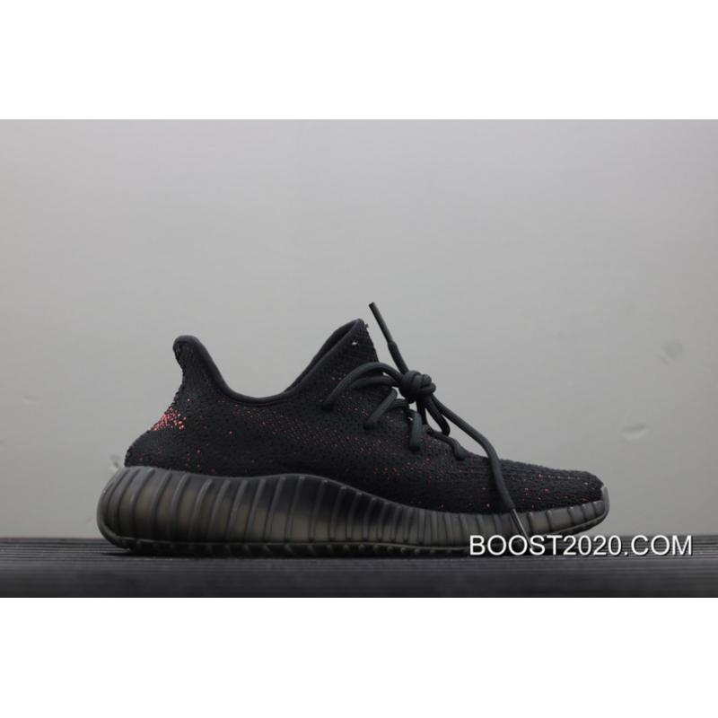 """b878bc88284 ... Women Men Adidas Yeezy Boost 350 V2 """"Black Red"""" Outlet Outlet ..."""