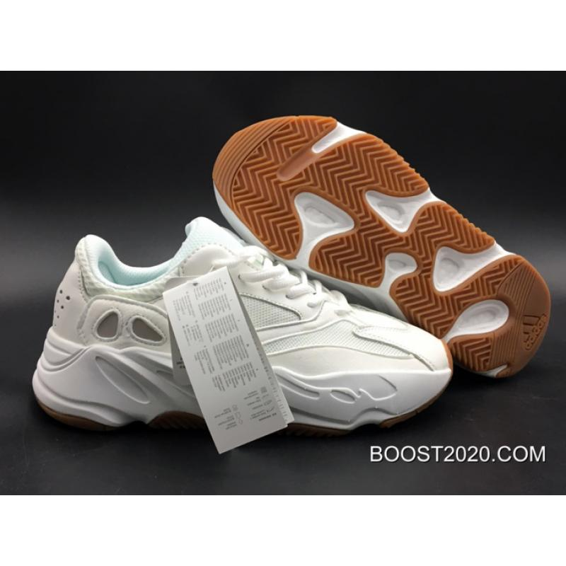 44aa328ef Women Men Outlet Free Shipping Adidas Yeezy Boost Wave Runner 700  White Gum   ...