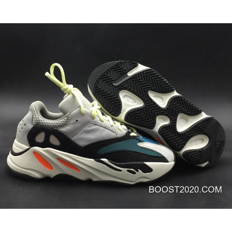 low priced 0a3f3 383c7 Women/Men Outlet Top Deals Adidas Yeezy Boost 700 Wave Runner Solid  Grey/Chalk White-Core Black