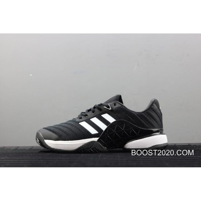 5f0ccfcd6 Adidas Barricade 2018 Core Black Cloud White New Release ...